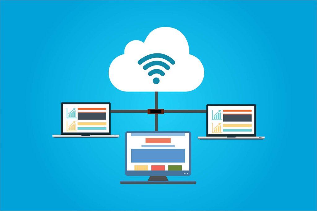 computer cloud vernetzt
