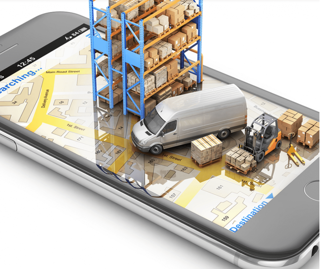 it4less_logistik_stapler_transporter_regal auf smartphone